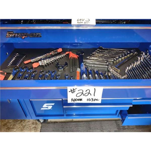 SNAP-ON DRAWER FULL OF METRIC TOOLS, ALL NEW OR LIKE-NEW, 103 PCS