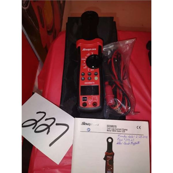 SNAP-ON LOW CURRENT CLAMP METER EEDM570, NEW