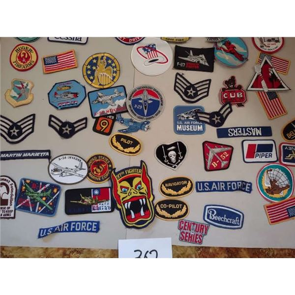COLLECTION OF AVIATOR AND USAF PATCHES