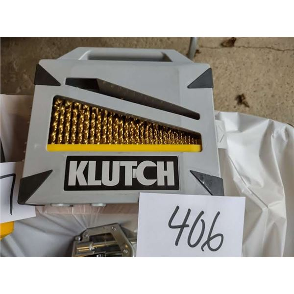 KLUTCH 115 PC TITANIUM COATED DRILL BIT SET, COST $160.00 NEW