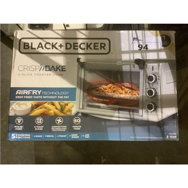 BLACK & DECKER CRISP 'N BAKE 6-SLICE TOASTER OVEN