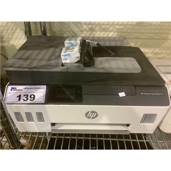 HP SMART TANK PLUS 651 PRINTER (WITH POWER CORD)