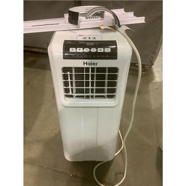 HAIER 10,000 BTU PORTABLE AIR CONDITIONER MODEL HPP10XCTL1 WITH ACCESSORIES (TESTED WORKING)