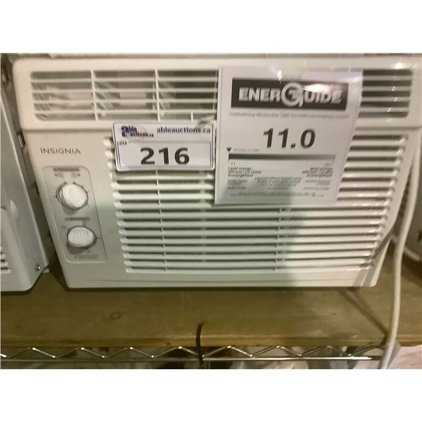 INSIGNIA 5,000 BTU WINDOW TYPE AIR CONDITIONER MODEL NS-AC5WWH0-C WITH ACCESSORIES (TESTED WORKING)