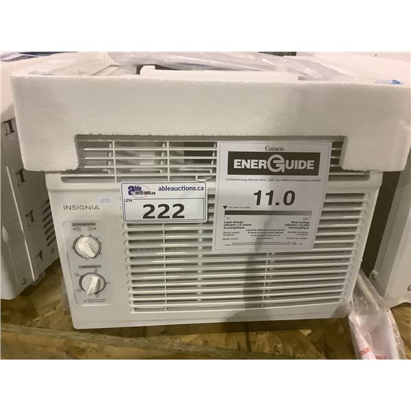 INSIGNIA 5,000 BTU WINDOW TYPE AIR CONDITIONER MODEL NS-AC5WWH0-C (TESTED WORKING)