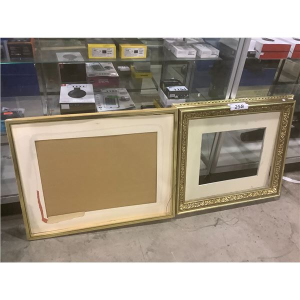 2 WOOD PICTURE FRAMES