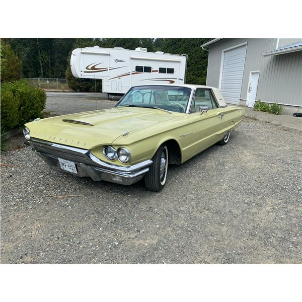 1964 FORD TBIRD, GREEN, 2 DOOR HARD TOP, GAS, AUTOMATIC, VIN#4Y83Z175647, ODO READS 18,485 MILES (5