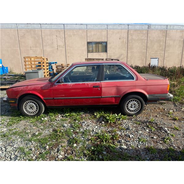 1986 BMW 325E, 2DRCP, RED, GAS, MANUAL, VIN#WBAA85402G9675860, 327,565KMS, RD,CD,SR, FADED