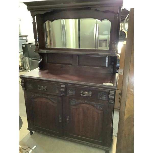 """ANTIQUE STEP BACK CUPBOARD CIRCA 1880 WITH ORIGINAL HARDWARE APPROX 48"""" X 18.5"""" X 72"""""""