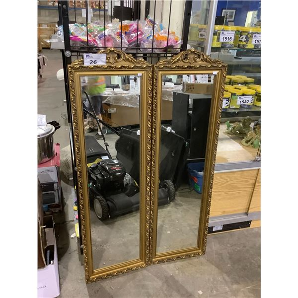 2 MATCHING FRAMED MIRRORS