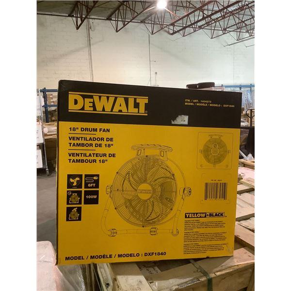 """DEWALT 18"""" DRUM FAN MODEL #DXF1840"""