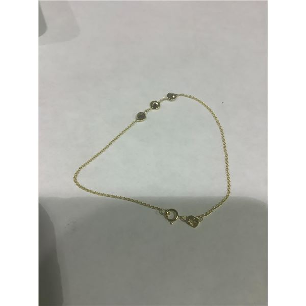 14K YELLOW GOLD NECKLACE (0.47GM) NATURAL FANCY COLOR DIAMONDS (PINK & WHITE 0.7 CT)