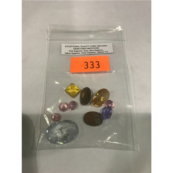 EXCEPTIONAL QUALITY CUBIC CERKONEY A GEMSTONE IMITATIONS PINK SAPPHIRE, RUBY, BLUE SAPPHIRE, YELLOW