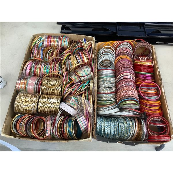 2 TRAYS OF BANGLES