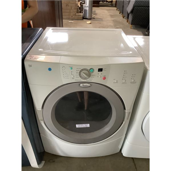 WHIRLPOOL FRONT LOAD DRYER VISIBLE DAMAGE MODEL #YGEW9250PW0