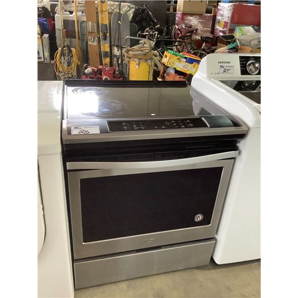 WHIRLPOOL ELECTRIC TOP STOVE CONVENTIONAL OVEN MODEL #YWEE510S0FS1