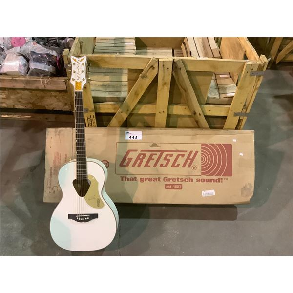 GRETSCH GUITAR MODEL #G5021WPE WHT (WITH VISIBLE DAMAGE)