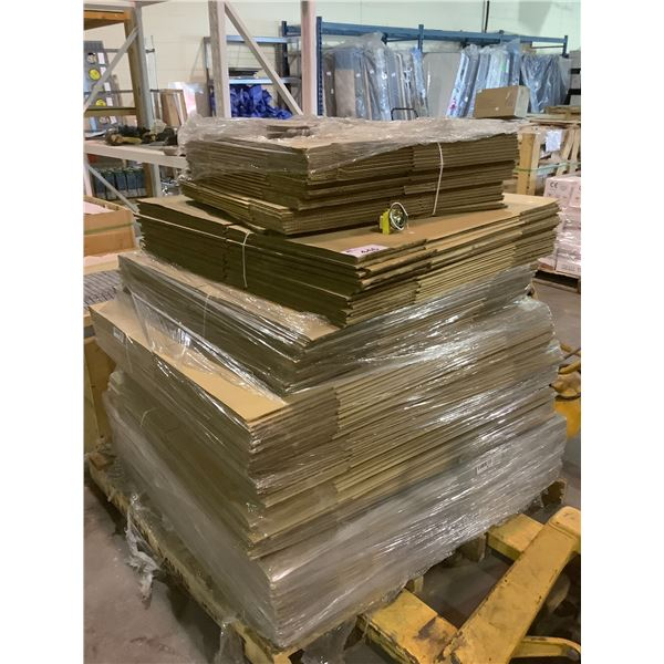 PALLET OF NEW ASSORTED SIZED CARDBOARD BOXES