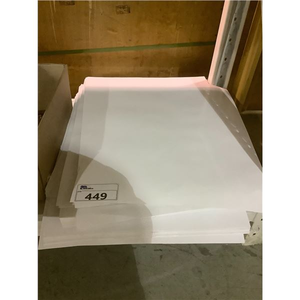 """LARGE QUANTITY OF GLOSSY PAPER (25"""" X 19"""")"""