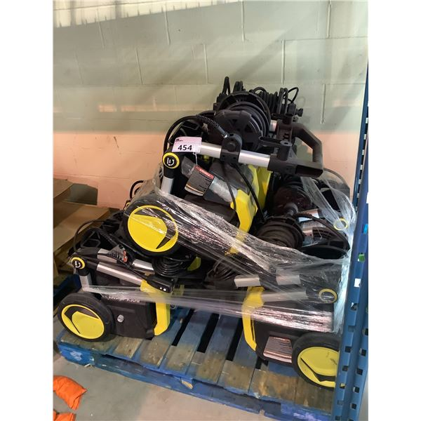 PALLET OF KARCHER PRESSURE WASHERS (MAY BE MISSING PIECES AND OR REQUIRE REPAIR)