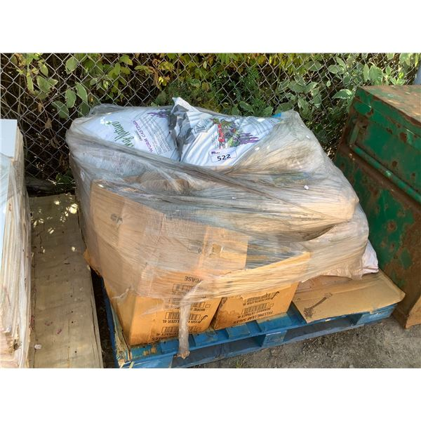 PALLET OF ORGANIC WORM CASTINGS SOIL AND FERTILIZERS