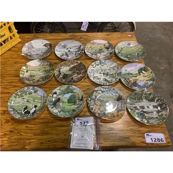ASSORTED PETER BARRETT DECORATIVE PLATES WITH CERTIFICATES
