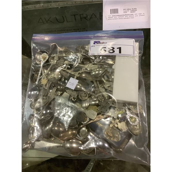 BAG OF COLLECTABLE SPOONS