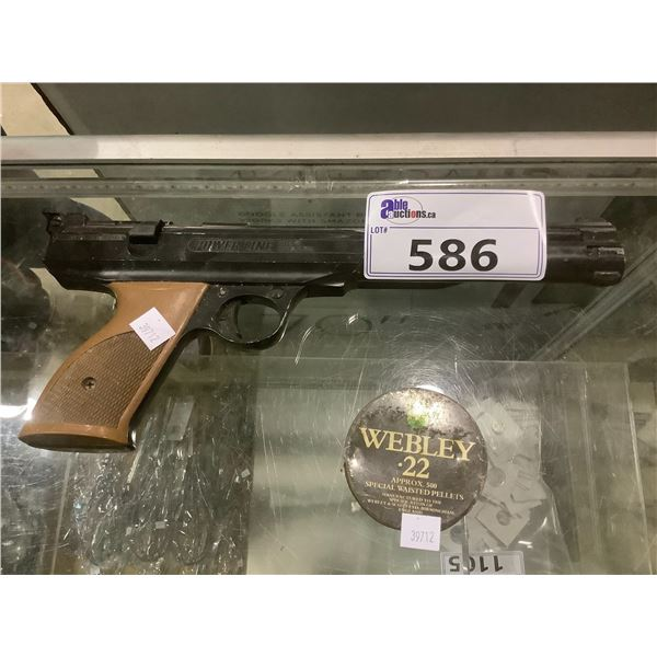 POWERLIN MODEL 77 PUMP ACTION PELLET GUN AND PELLETS