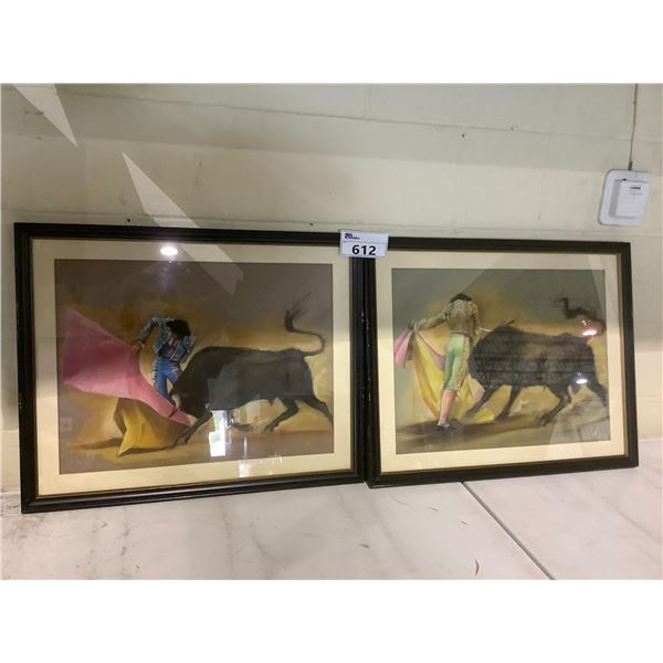 2 SIGNED FRAMED PAINTINGS