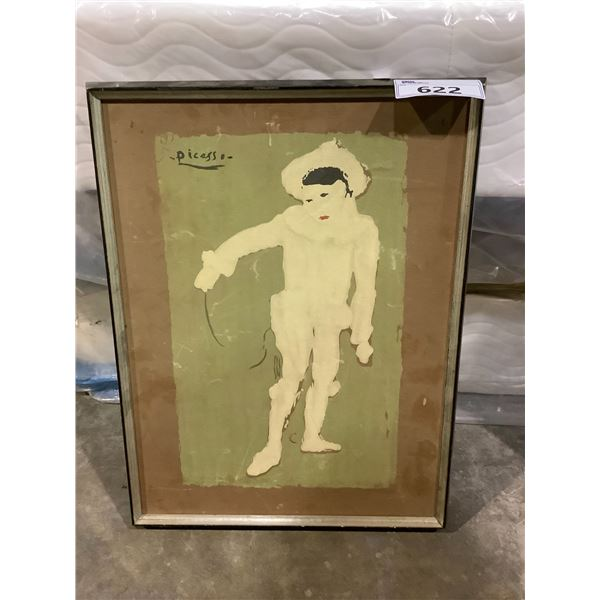IMITATION PICASSO MIME FRAMED PAINTING
