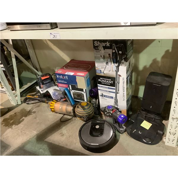 PARTS AND REPAIR LOT INCLUDING; 3 DYSON VACUUMS, INSTANT POT AIR FRYER, SHARK VACUUM AND MORE
