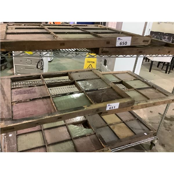 VINTAGE COLOURED GLASS WINDOWS