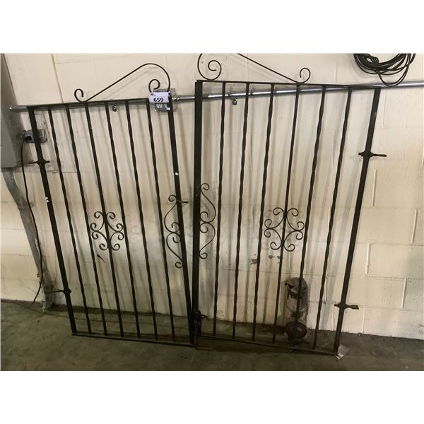 WROUGHT IRON GATE WITH DOUBLE LOCKING FEATURE 4' WIDE