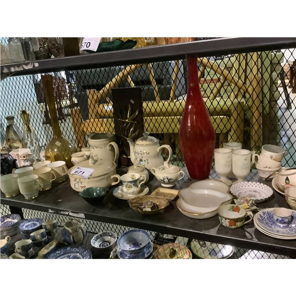 ASSORTED DISHWARE, COLLECTABLES, DECANTERS AND MORE