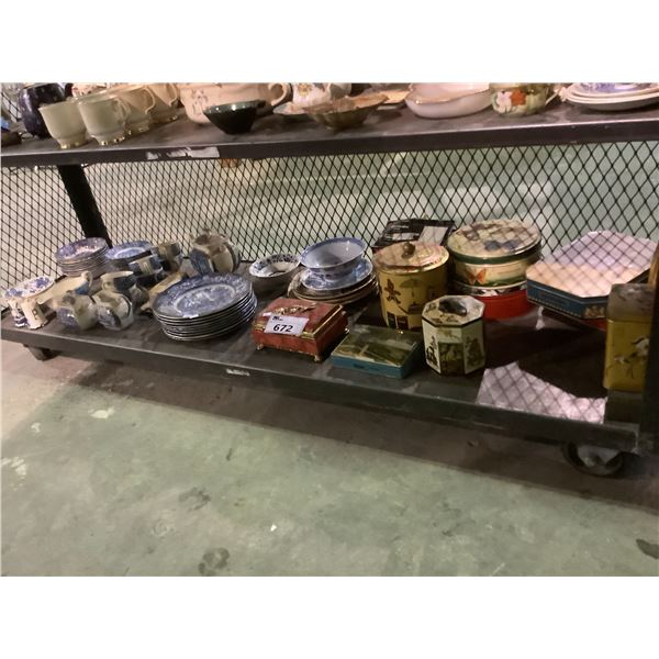 ASSORTED LIBERTY BLUE DISHWARE AND BOXES