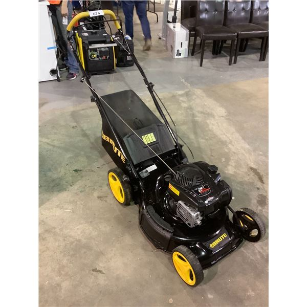 BRUTE REAR WHEEL DRIVE GAS LAWN MOWER WITH BRIGGS & STRATTON MOTOR EX625 150CC MAY NEED