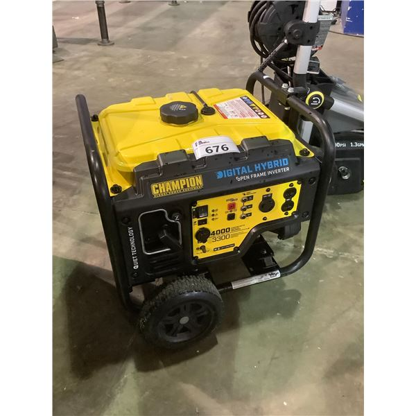 CHAMPION GLOBAL POWER EQUIPMENT DIGITAL HYBRID OPEN FRAME INVERTER MAY NEED PARTS AND OR REQUIRE
