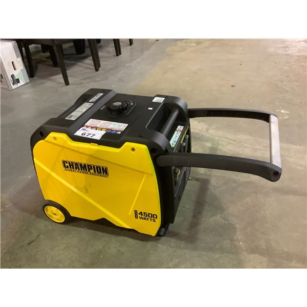 CHAMPION 4500WATT GAS POWERED GENERATOR MAY BE NEED PIECES AND OR REQUIRE REPAIR