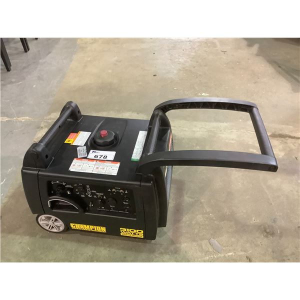 CHAMPION 3100WATT GAS POWERED GENERATOR MAY NEED PIECES AND OR REQUIRE REPAIR