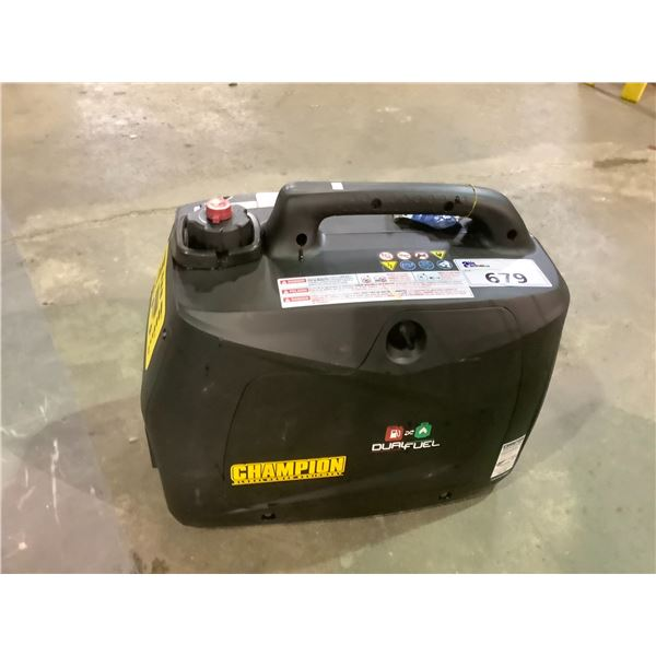 CHAMPION GLOBAL POWER EQUIPMENT DUAL FUEL INVERTER GENERATOR 2000 MAX WATT MAY NEED PIECES AND OR