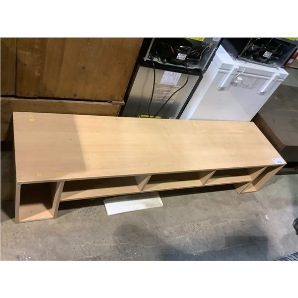 """TV STAND WITH VISIBLE DAMAGE APPROX 71.75"""" X 18"""" X 15"""""""