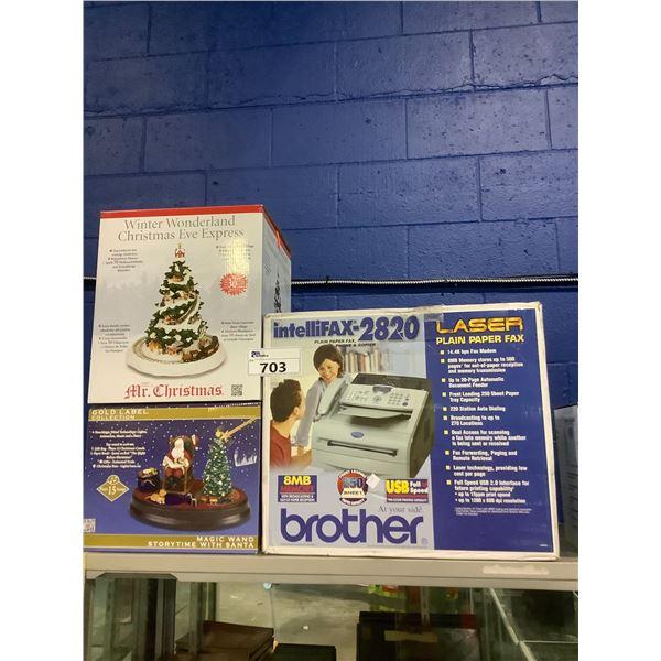 BROTHER INTELLIFAX2820 PRINTER AND CHRISTMAS DECOR