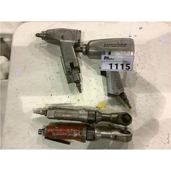 4 PNEUMATIC TOOLS BRANDS INCLUDE; RODAC, BLUE-POINT AND MORE