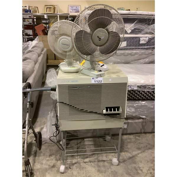 CONVAIR ROLLING AIR COOLER WITH 3 PORTABLE FANS