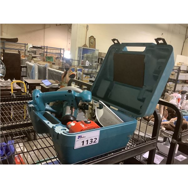 MAKITA CORDLESS CIRCULAR SAW MODEL 5620DWA WITH CARRYING CASE AND BATTERY