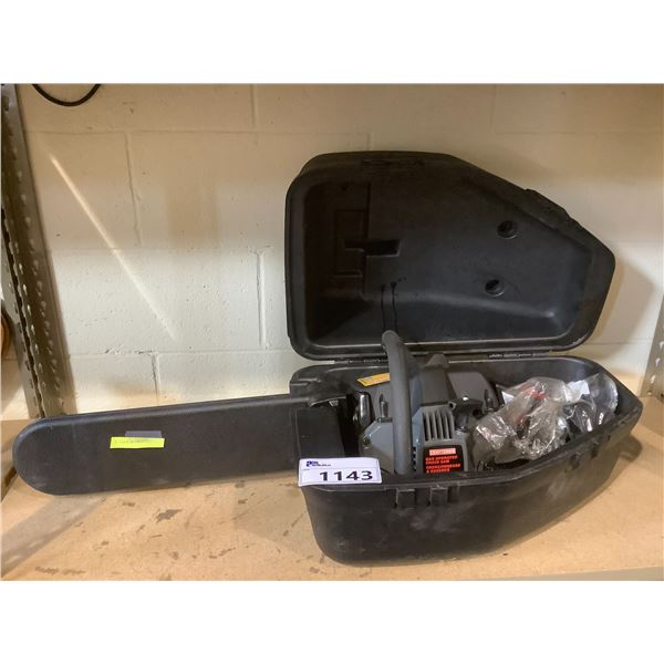 """CRAFTSMAN GAS POWERED 42CC 18"""" CHAINSAW WITH GUARD AND CASE"""