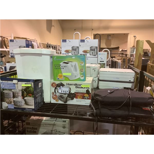 ASSORTED DISHWARE, SEAT MASSAGERS, SMALL APPLIANCES AND MORE