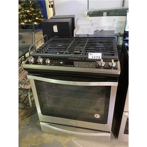 WHIRLPOOL GAS RANGE STOVE WITH CONVECTION OVEN