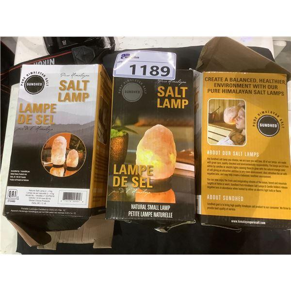 3 HIMALAYAN SALT LAMPS
