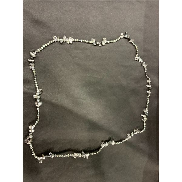 FRESHWATER PEARL AND ROCK CRYSTAL NECKLACE